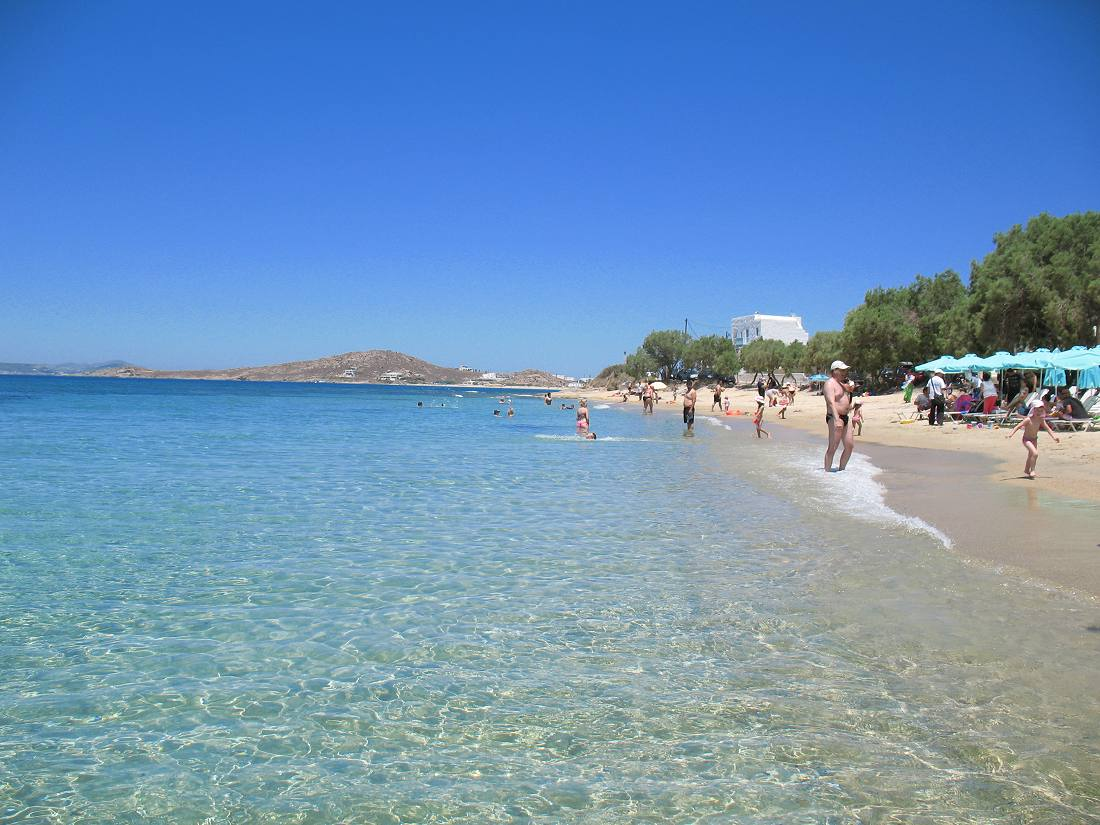 Naxos Agia Anna beach resort, hotel, accommodation and travel guide to Agia Anna on Naxos Greece in Cyclades Islands
