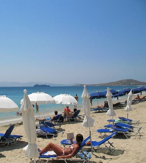 Agia Anna Beach in Naxos