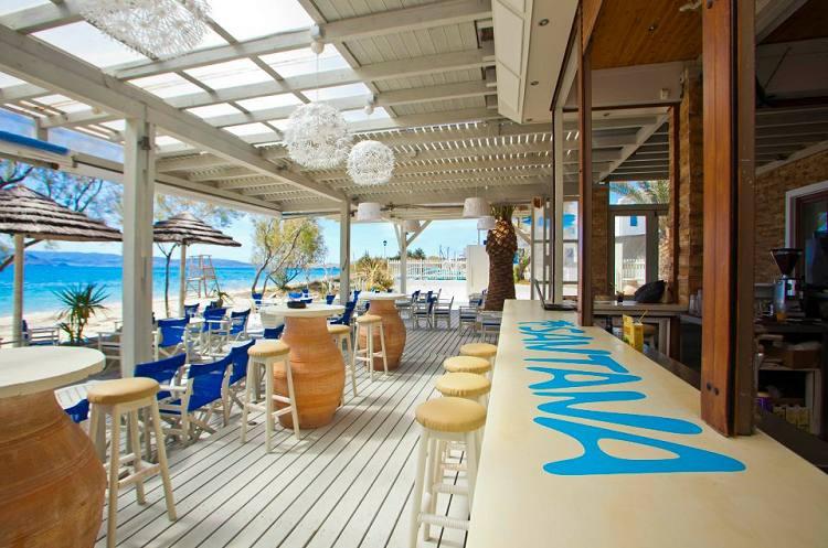 Santana Beach Club In Naxos Agia Anna Restaurants Hotels